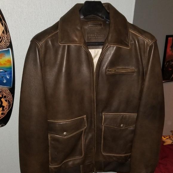 dd3b236eb Roundtree & yorke lambskin leather bomber jacket NWT
